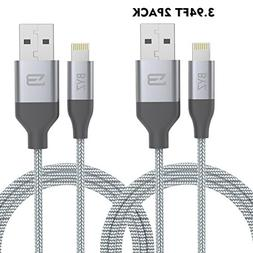 Vomach Lightning USB Cable 2 Packs 4FT  BYZUSB Cable for IOS