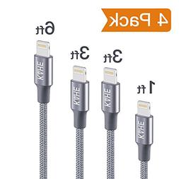 KAHE Lightning to USB Cable, 4 Pack  iPhone Charging Cable N