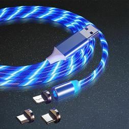 Magnetic 3 in 1 Light Up Charger LED Cable For iPhone Type C