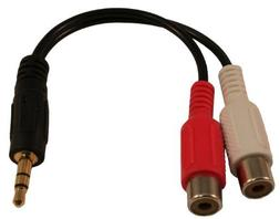 HDE 3.5mm Male to 2 RCA Left and Right Audio Female Adapter