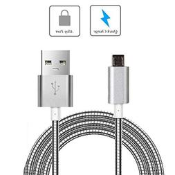 metal braided usb cable charger
