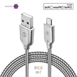 ZECEEN Metal USB Lightning Cable – Fast Charging & Data Tr