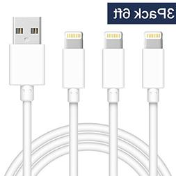 TNSO MFi Certified iPhone Cable 3Pack 6FT Extra Long USB Fas