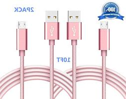 Mirco USB Cable, SUPZY Android Charger Nylon Braided Extra L
