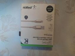 Belkin Mixit DuraTek Lightning to USB Cable in Gold, F8J207b