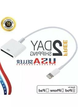 NEW 8 pin Lightning to 30 pin Charge Sync Cable Adapter Conv