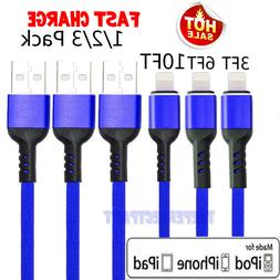 NEW Lightning Cable Heavy Duty For iPhone 8 7 6 Plus X XS XR