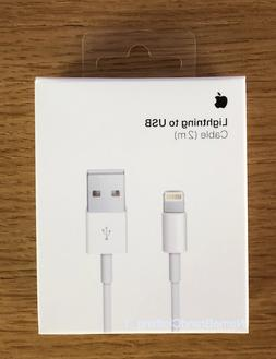 New Original Apple iPhone Lightning Cable 2m 6ft Charging Co