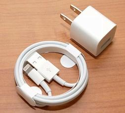 NEW WALL CHARGER PLUG AND LIGHTING USB CABLE FOR IPHONE 6, 7