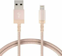 Nylon Braided Lightning to USB A Cable, MFi Certified iPhone