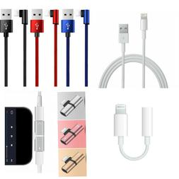 OEM Lightning Charger Data USB Cable / Headphone Adapter for
