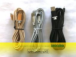 Pack of 3 - iPhone Nylon Braided Lightning Cable