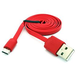 Red 6ft Long USB Cable Charger Sync Power Wire Micro-USB Dat