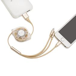 Retractable 3 in 1 USB Cable Lightning Cables Multi Universa