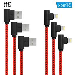 ANSEIP Right Angle Lightning Cable 3Pack 90 Degree iPhone Ch