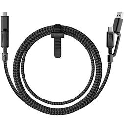 Nomad 1.5M Rugged Universal USB-C Cable - 4-in-1 Connector -