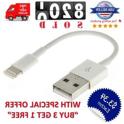 """Short 5"""" inch USB Cable Charger for iPhone iPad Mini 12/11/X"""
