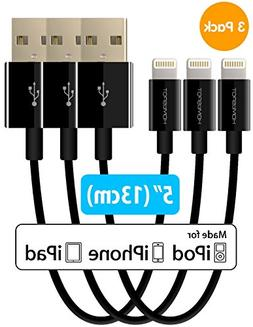 Short iPhone Charger Lightning Cable Charging Cord MFI by Ho