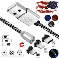 USA Magnetic Lightning Micro USB Charging Cable For iPhone 7