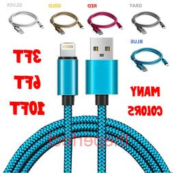 Braided USB 8 PIN Charger Cable For iPhone 6 7 8 12 Plus XR
