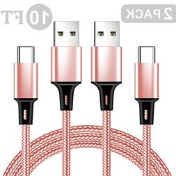 GTSLL USB Type C Charging Cable Nylon Braided Quick Charger