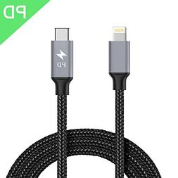 Dazonge USB C to Lightning Cable,3.3FT PD 18W Type C Power D