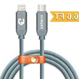 6.6ft USB-C to Lightning Cable, YONTEX USB 2.0 Type C to Lig