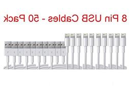 50pcs 3ft USB Cable Charger Charging Data Sync Cord For iPho