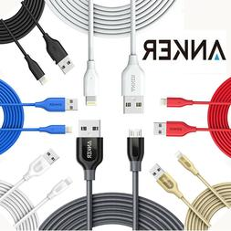 USB Charging Cable Anker iPhone&Android 1ft-3ft-6ft-10ft Pow