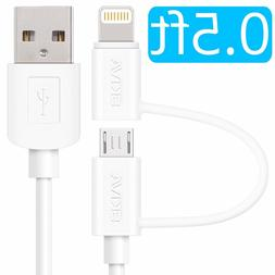 Skiva USBLink Duo 0.5 feet Charge and Sync Cable with Micro
