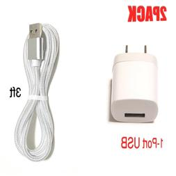 Wall Charger Adapter + Lightning Cable Cord For iPhone 6 /7/